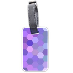 Purple Hexagon Background Cell Luggage Tags (one Side)