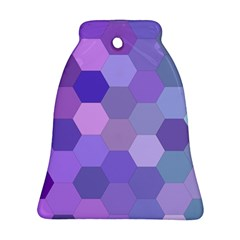 Purple Hexagon Background Cell Bell Ornament (two Sides)