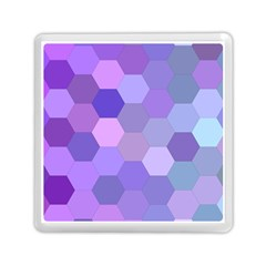 Purple Hexagon Background Cell Memory Card Reader (square)  by Nexatart