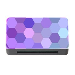 Purple Hexagon Background Cell Memory Card Reader With Cf