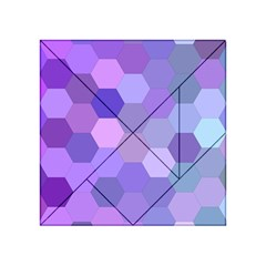 Purple Hexagon Background Cell Acrylic Tangram Puzzle (4  X 4 )