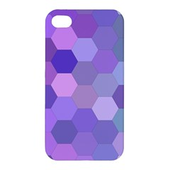 Purple Hexagon Background Cell Apple Iphone 4/4s Premium Hardshell Case