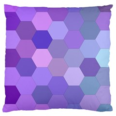 Purple Hexagon Background Cell Large Cushion Case (two Sides)