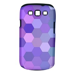 Purple Hexagon Background Cell Samsung Galaxy S Iii Classic Hardshell Case (pc+silicone)