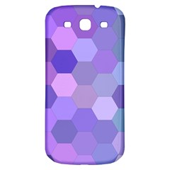 Purple Hexagon Background Cell Samsung Galaxy S3 S Iii Classic Hardshell Back Case by Nexatart