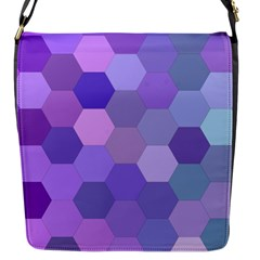 Purple Hexagon Background Cell Flap Messenger Bag (s)