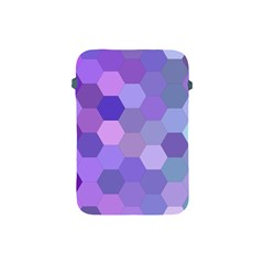 Purple Hexagon Background Cell Apple Ipad Mini Protective Soft Cases by Nexatart
