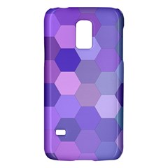 Purple Hexagon Background Cell Galaxy S5 Mini by Nexatart