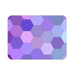 Purple Hexagon Background Cell Double Sided Flano Blanket (mini)