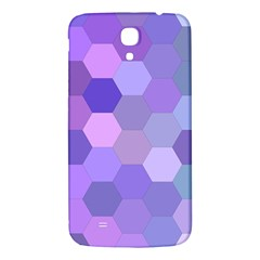 Purple Hexagon Background Cell Samsung Galaxy Mega I9200 Hardshell Back Case by Nexatart