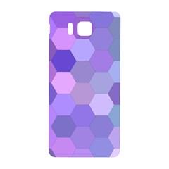 Purple Hexagon Background Cell Samsung Galaxy Alpha Hardshell Back Case