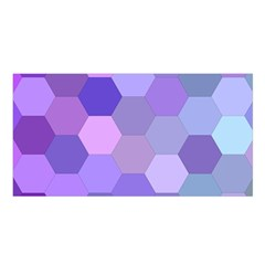 Purple Hexagon Background Cell Satin Shawl