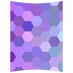Purple Hexagon Background Cell Back Support Cushion by Nexatart