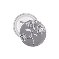 Flower Heart Plant Symbol Love 1 75  Buttons