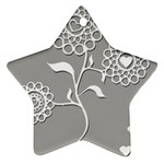 Flower Heart Plant Symbol Love Star Ornament (Two Sides) Front