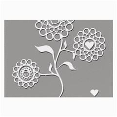 Flower Heart Plant Symbol Love Large Glasses Cloth by Nexatart
