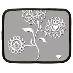 Flower Heart Plant Symbol Love Netbook Case (xl)