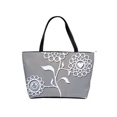 Flower Heart Plant Symbol Love Shoulder Handbags by Nexatart
