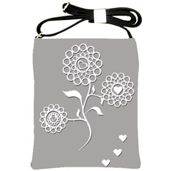 Flower Heart Plant Symbol Love Shoulder Sling Bags