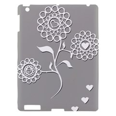 Flower Heart Plant Symbol Love Apple Ipad 3/4 Hardshell Case by Nexatart
