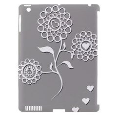 Flower Heart Plant Symbol Love Apple Ipad 3/4 Hardshell Case (compatible With Smart Cover)