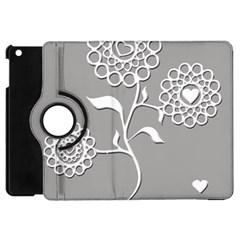 Flower Heart Plant Symbol Love Apple Ipad Mini Flip 360 Case by Nexatart