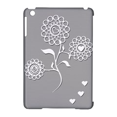 Flower Heart Plant Symbol Love Apple Ipad Mini Hardshell Case (compatible With Smart Cover) by Nexatart