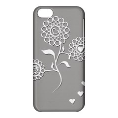 Flower Heart Plant Symbol Love Apple Iphone 5c Hardshell Case