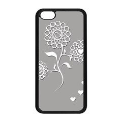 Flower Heart Plant Symbol Love Apple Iphone 5c Seamless Case (black) by Nexatart
