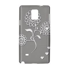 Flower Heart Plant Symbol Love Samsung Galaxy Note 4 Hardshell Case by Nexatart