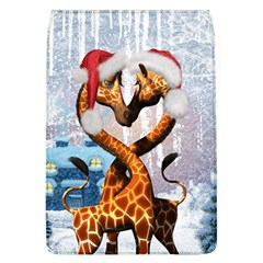 Christmas, Giraffe In Love With Christmas Hat Flap Covers (l)  by FantasyWorld7