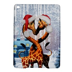 Christmas, Giraffe In Love With Christmas Hat Ipad Air 2 Hardshell Cases by FantasyWorld7