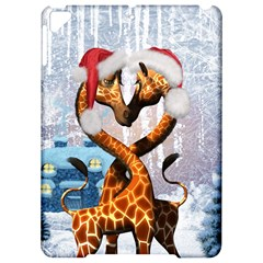 Christmas, Giraffe In Love With Christmas Hat Apple Ipad Pro 9 7   Hardshell Case by FantasyWorld7