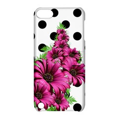 Daisy Polka Dots Magenta Apple Ipod Touch 5 Hardshell Case With Stand by LoolyElzayat