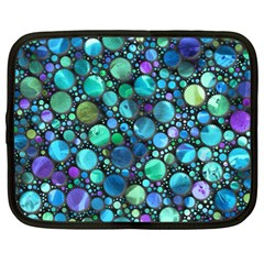 Lovely Shapes 2c Netbook Case (large) by MoreColorsinLife