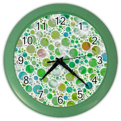 Lovely Shapes 2b Color Wall Clocks by MoreColorsinLife