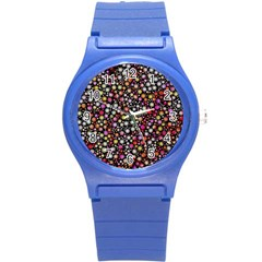 Lovely Shapes 4a Round Plastic Sport Watch (s) by MoreColorsinLife