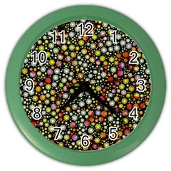 Lovely Shapes 4b Color Wall Clocks by MoreColorsinLife