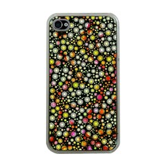 Lovely Shapes 4b Apple Iphone 4 Case (clear) by MoreColorsinLife