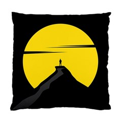 Man Mountain Moon Yellow Sky Standard Cushion Case (one Side)