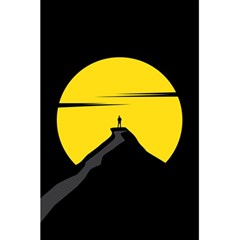Man Mountain Moon Yellow Sky 5 5  X 8 5  Notebooks by Nexatart