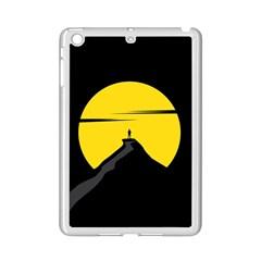 Man Mountain Moon Yellow Sky Ipad Mini 2 Enamel Coated Cases