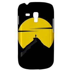 Man Mountain Moon Yellow Sky Galaxy S3 Mini by Nexatart