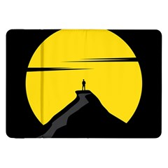 Man Mountain Moon Yellow Sky Samsung Galaxy Tab 8 9  P7300 Flip Case