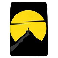 Man Mountain Moon Yellow Sky Flap Covers (s)  by Nexatart