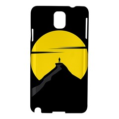 Man Mountain Moon Yellow Sky Samsung Galaxy Note 3 N9005 Hardshell Case