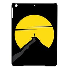 Man Mountain Moon Yellow Sky Ipad Air Hardshell Cases