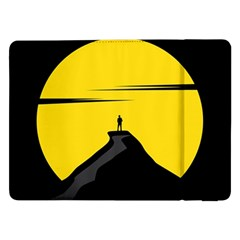 Man Mountain Moon Yellow Sky Samsung Galaxy Tab Pro 12 2  Flip Case