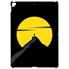 Man Mountain Moon Yellow Sky Apple Ipad Pro 12 9   Hardshell Case
