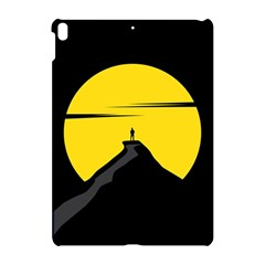Man Mountain Moon Yellow Sky Apple Ipad Pro 10 5   Hardshell Case by Nexatart